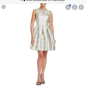 Vince Camino silver fit n flare dress